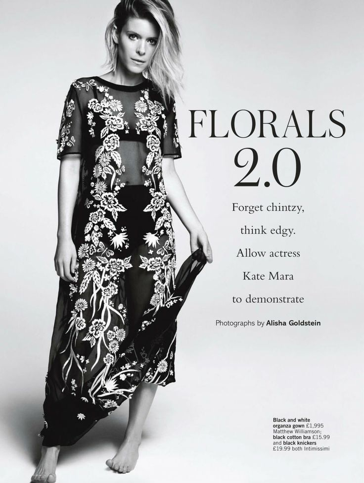 Kate Mara - Photoshoot in Floral Prints for Glamour Magazine (UK ...