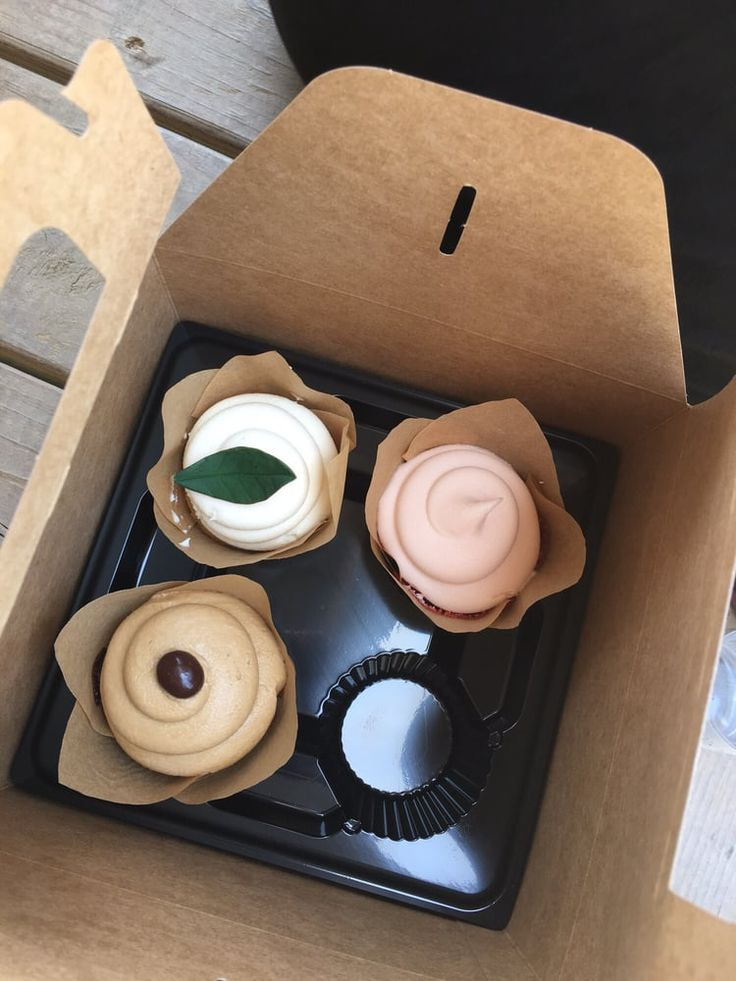 Photo of The Magnolia Market - Waco, TX, United States. Cupcakes from Magnolia Flour Bakery