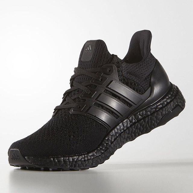 "The adidas Ultra Boost ""Triple Black"" releases next week. For full details, tap the link in our bio."