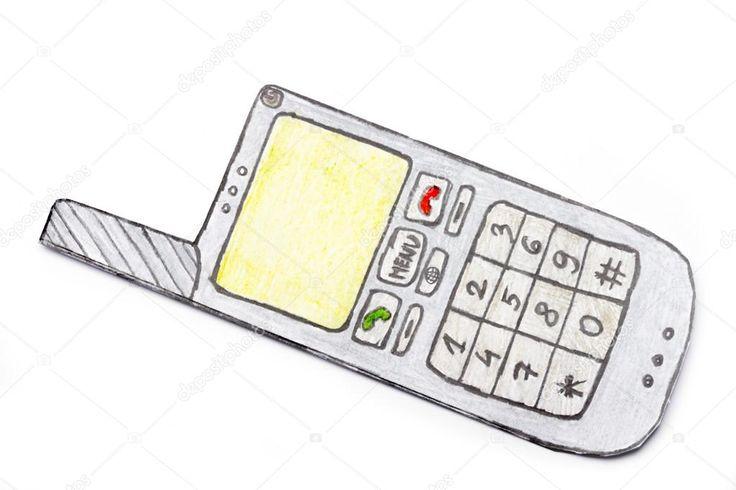 Znalezione obrazy dla zapytania telefony komórkowe rysunek