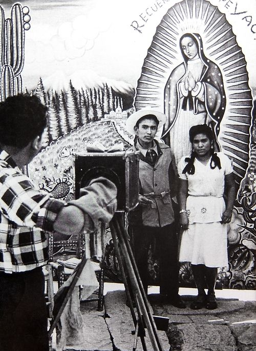 Pilgrims at the shrine of Our Lady of Guadalupe, Mexico City, 1950s