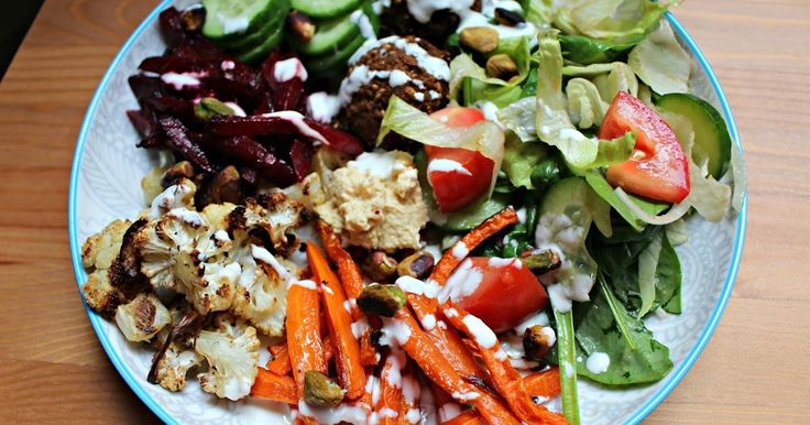 Roasted Winter Veggie Bowl - Eat the rainbow :)