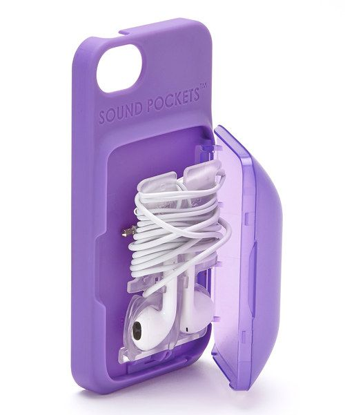 Take a look at the Purple Earbud Storage Case for iPhone on #zulily today!