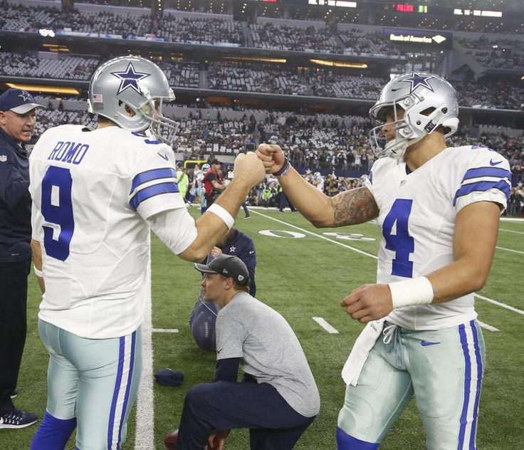 Tony Romo and Dak Prescott