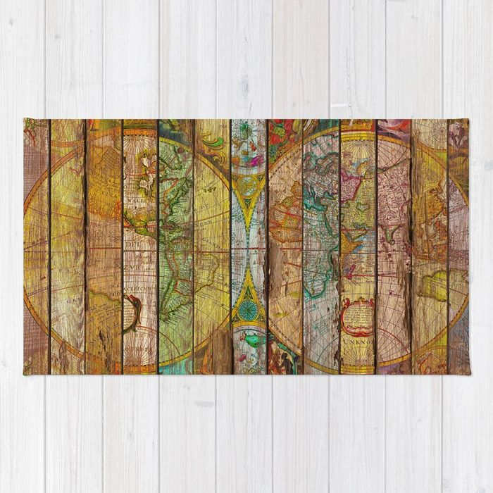Buy Around the World in Thirteen Maps Rug by maximilian. Worldwide shipping available at Society6.com. Just one of millions of high quality products available.