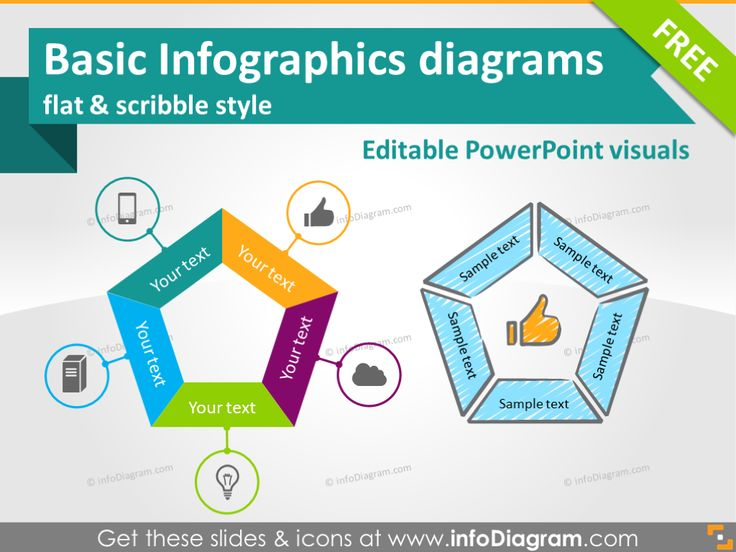 Free Infographics Diagrams and Symbols (PPT icons and shapes) #powerpoint #template #theme