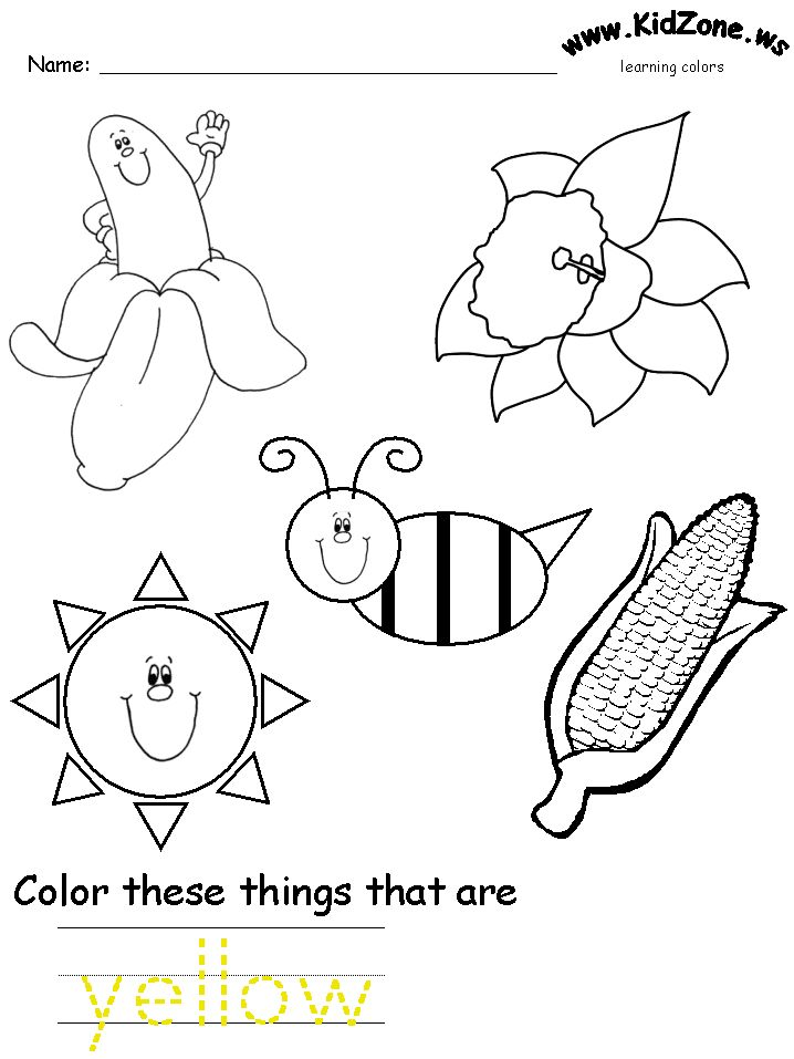 colors recognition practice worksheet - Coloring Page For Kindergarten