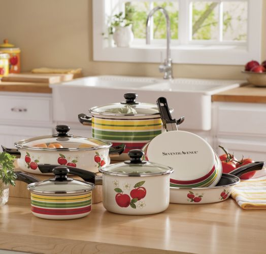 10 Piece Apple Cookware Set By Seventh Avenue From Seventh Avenue ®