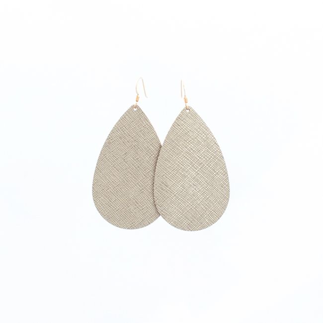 I'd love any Nickel and Suede earrings --- here's a few --- Luxe Linen Nickel and Suede Leather Earrings Medium