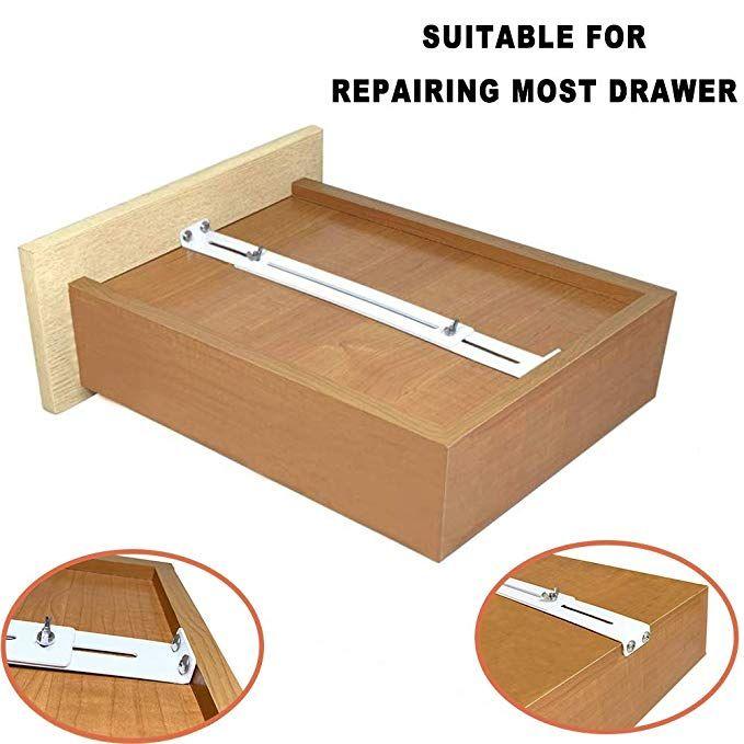 Frmsaet Drawer Repair Kit Used To Reinforce And Repair Wooden Mdf Chipboard Drawers Cabinet Reinforcement H Drawer Repair Furniture Accessories Drawer Tracks