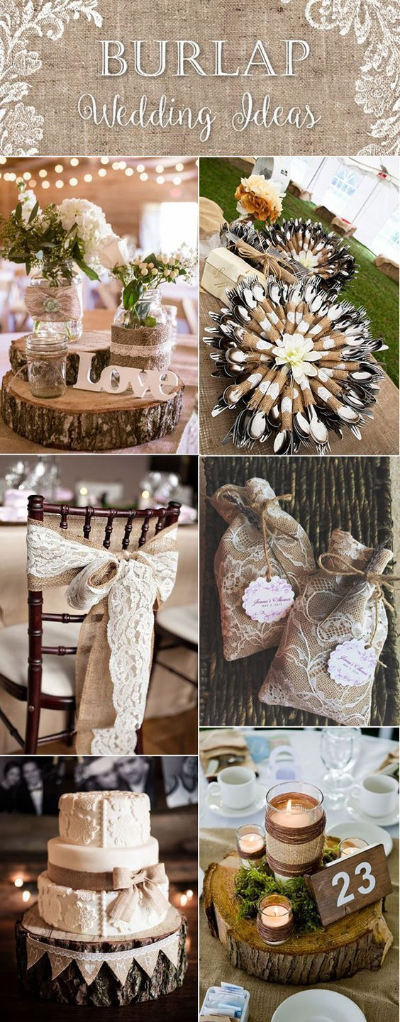 Elegant Top 20 Country Rustic Lace And Burlap Wedding Ideas (Including Invitations  And Favors)