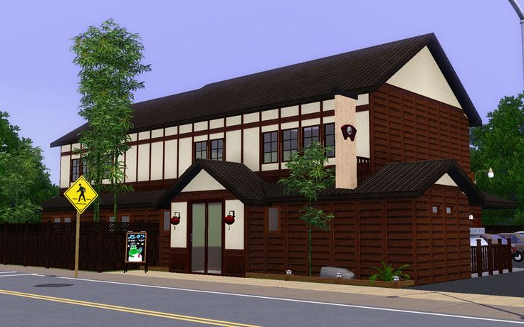 "Mod The Sims - Japanese style tourist spot ""Local bar"""