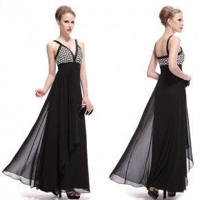 Černé společenské šaty se vzorem