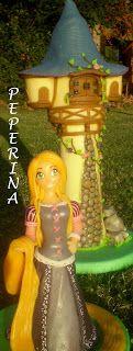 """""""Reina Peperina""""                                                       Porcelana fría y mucho más...: Torre de Rapunzel en porcelana fría. Altísima y de..."""
