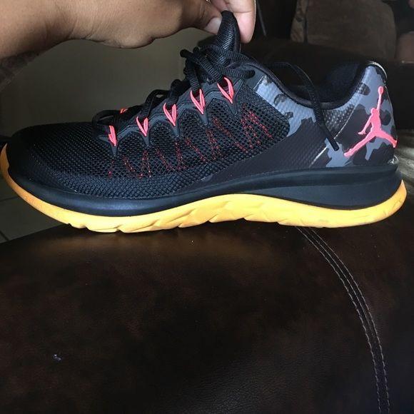 Jordan's Black & orange. Still like new Men's Jordan Shoes Athletic Shoes