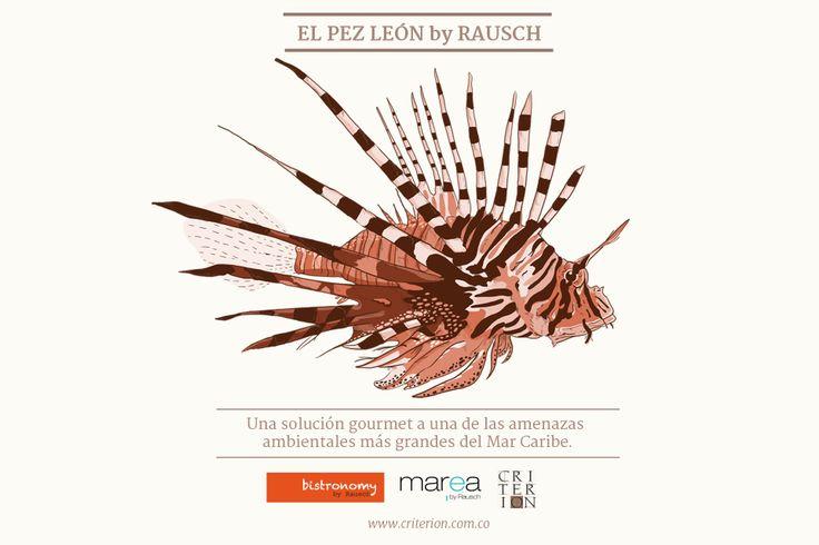 En Marea by Rausch y en Criterión, también es posible disfrutar el #PezLeon y al mismo tiempo, ayudar a combatir a este invasor que tanto daño le ha causado a nuestro ecosistema: http://www.eltiempo.com/vida-de-hoy/ecologia/VIDEO-WEB-DESPLIEGUE_VIDEO-13223495.html
