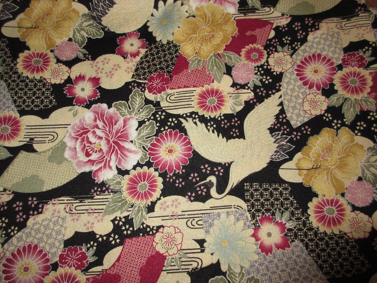 Tissus japonais, Tissus japonais Fleurs 2 est une création orginale de Sakura-crea-deco sur DaWanda