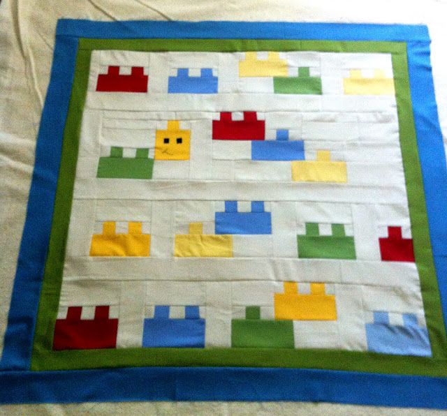 Moda Bake Shop: Blockhead Baby Quilt  A LEGO quilt, what a great idea.