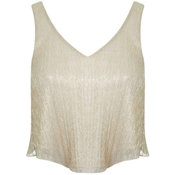 Miss Selfridge Petites Gold Sparkle Cami Top ($12) ❤ liked on Polyvore featuring tops, gold color, petite, gold sparkle tank top, white singlet, sparkle tank, cami tank tops and white camisole