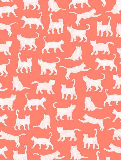Cat Pattern Wallpaper Background Stock Vector 301772033 - Shutterstock
