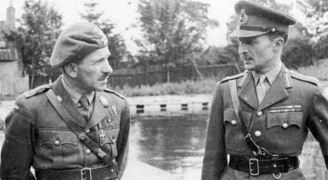 gen. Sosabowski (z lewej) z gen. Browningiem fot. Wikimedia Commons.