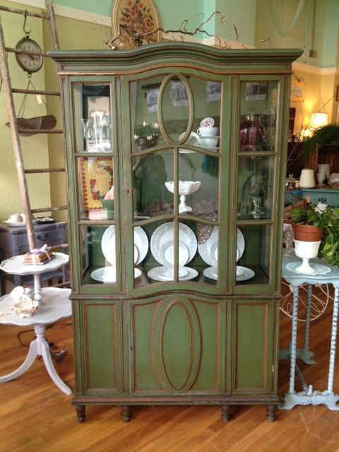 Cottage Styled Rustic China Cabinet $695