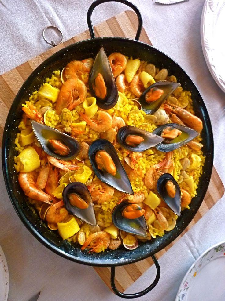 Paella de pescado y mariscos c005 pescados y mariscos - Paella de pescado ...