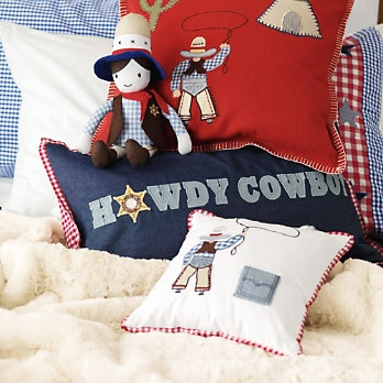 Buy Sale > The Little White Company > Tooth Cowboy Cushion from The White Company