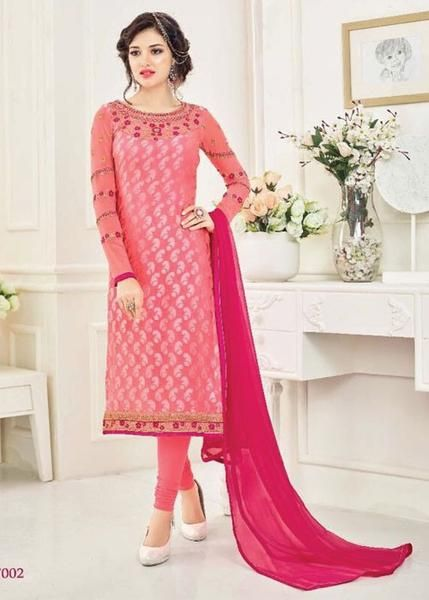 PINK BRASSO SALWAR KAMEEZ - ONLINE SALWAR SHOPPING WITH USA SHIPPING PRICE: ONLY US$67 + FREE SHIPPING USA CANADA