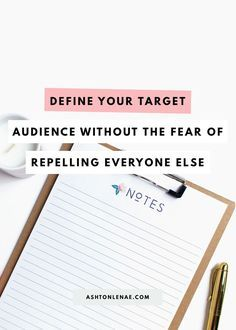 Define Your Target A