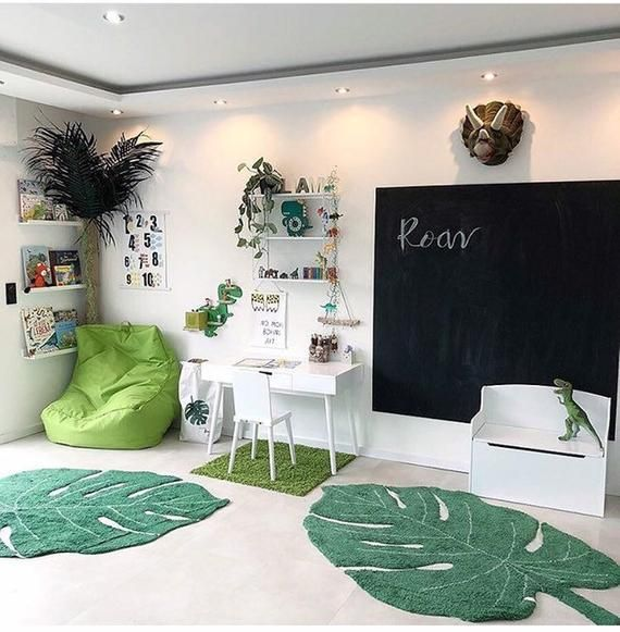 5ft Big Leaf Green Area Rugs For Kids Room Decoration Soft 100