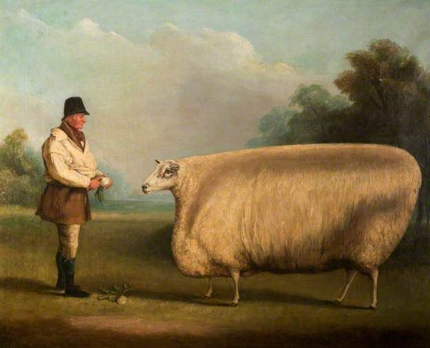 Prize Sheep, 1838, by William Henry Davis (c.1783-1865)