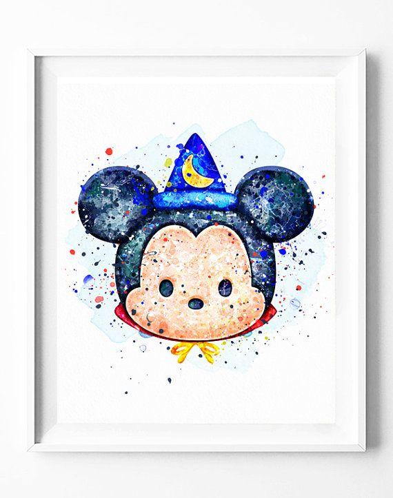 Magician+Mickey+Mouse+Print+Disney+Tsum+by+DigitalPrintCharlie