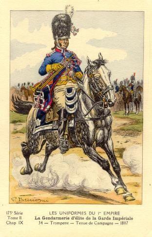French; Imperial Guard, Gendarmes d'Elite, Trumpeter, Tenue de Campagne, 1807