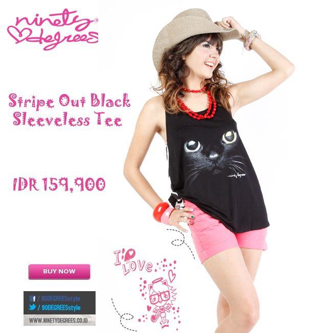 Stripe Out Black Sleeveless Tee you go Girls IDR 159,900 >> http://ow.ly/vuGWE