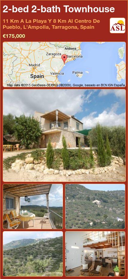 2-bed 2-bath Townhouse in 11 Km A La Playa Y 8 Km Al Centro De Pueblo, L'Ampolla, Tarragona, Spain ►€175,000 #PropertyForSaleInSpain
