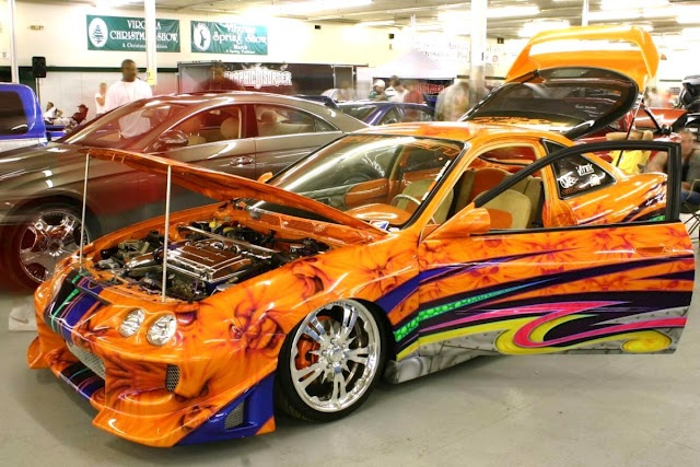 cool tricked out cars i love the orange paint job only awesome paint jobs pinterest paint. Black Bedroom Furniture Sets. Home Design Ideas