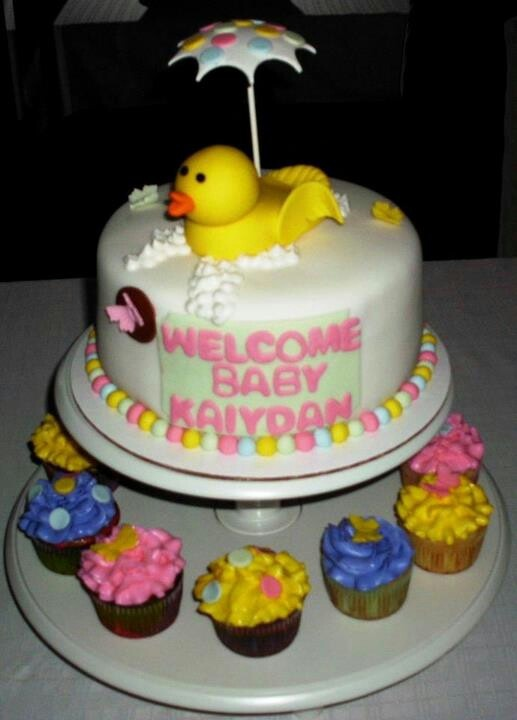 Duck Theme Babyshower Cake