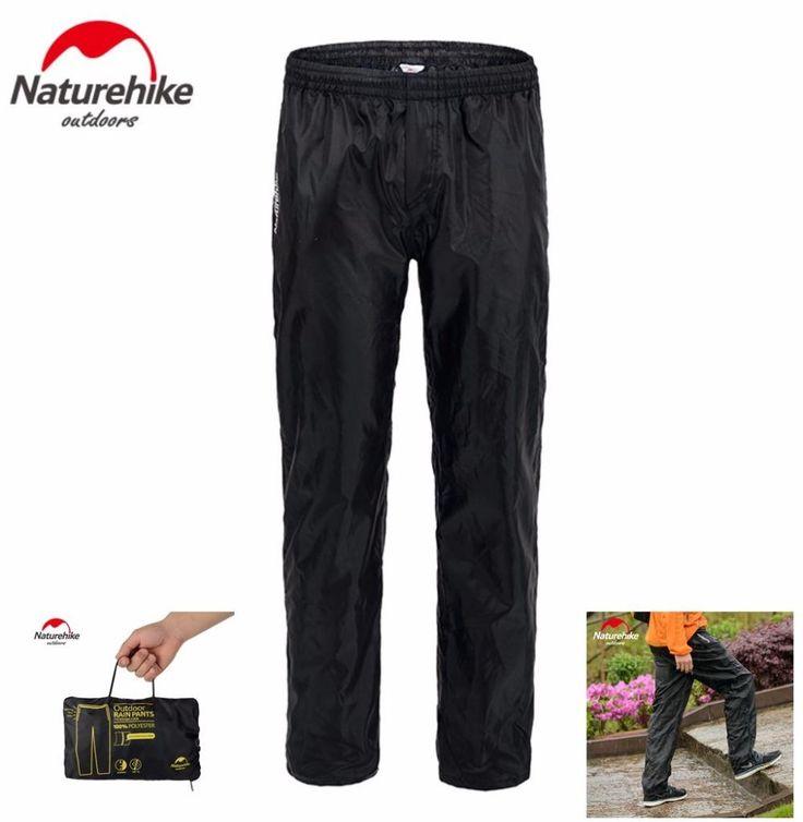 [Visit to Buy] Brand Naturehike Outdoor Camping Hiking double zipper Rain Pants Nylon Waterproof Cycling Pants Fishing Trousers Plus size #Advertisement