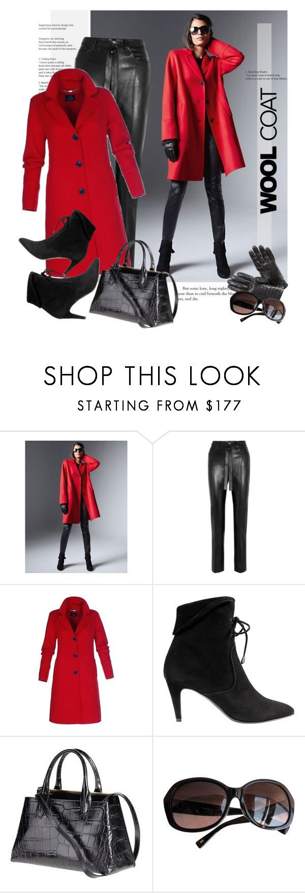"""""""Red Coat"""" by sella103 ❤ liked on Polyvore featuring Topshop Unique, MaxMara and coat"""