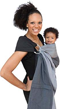 Maya Wrap Lightly Padded Ring Sling Baby Carrier Asher Large