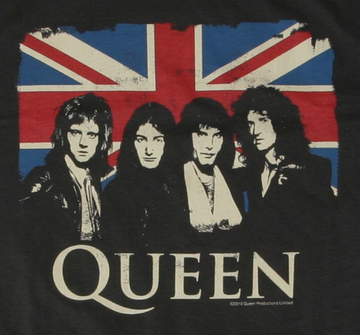 Image detail for -Queen Union Jack TShirt - Queen T Shirts Band