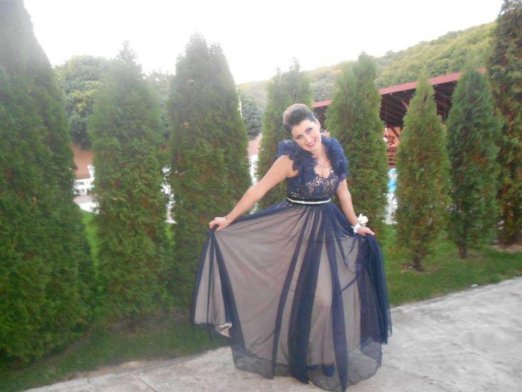 Anamaria - navy blue evening dress