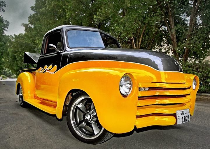 My 51 Chevy truck project, to be completed in 2020, but the Photoshop version is done now