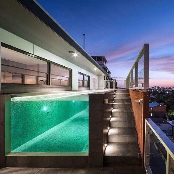 Best 25 glass pool ideas on pinterest modern for Contemporary above ground pools