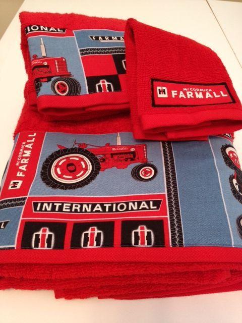 International Harvester / Farmall Themed Towel Set on Etsy, $20.00