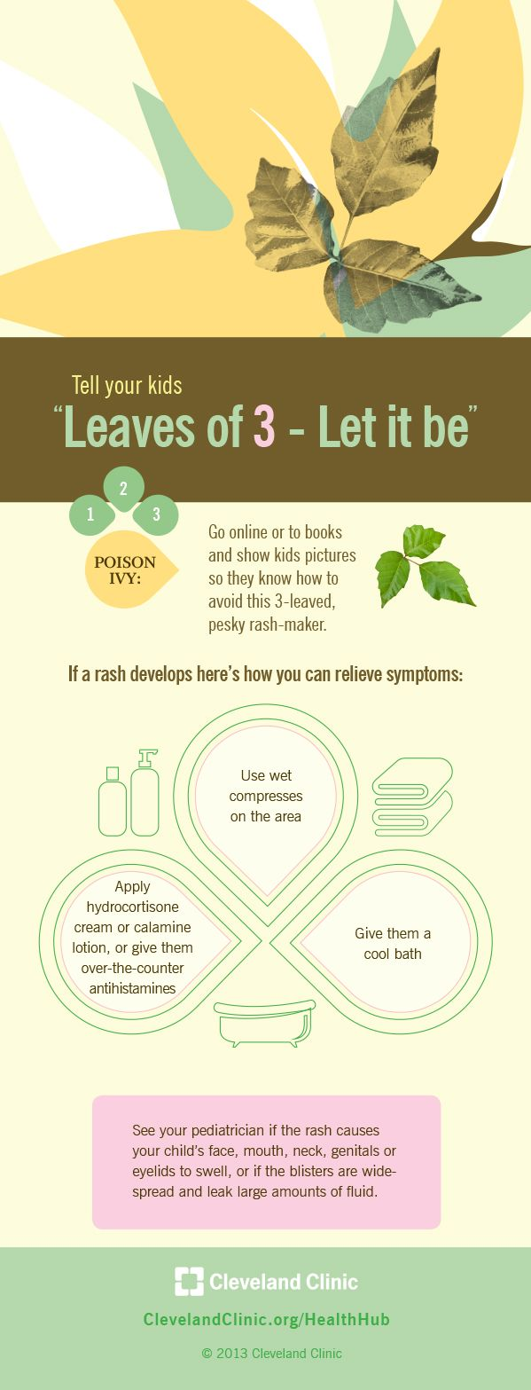3 ways to relieve symptoms of poison ivy (Cleveland Clinic infographic)