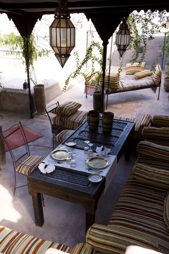Rooftop terrace in Riad
