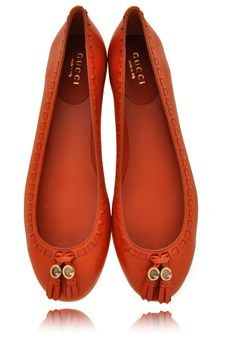 GUCCI MARION Auburn Leather Ballerinas ♥✤ | Keep the Glamour | BeStayBeautiful