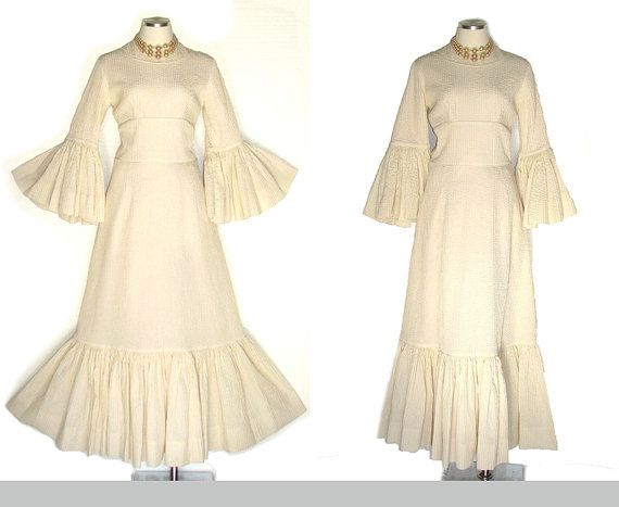New s Mexican Pintuck Wedding Dress Vintage by DeannesVintage